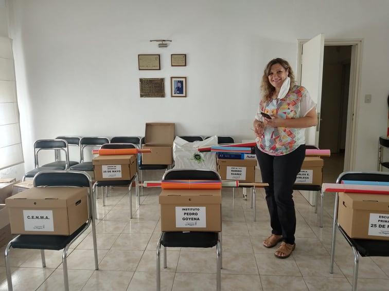 Entrega de Kit Escolares y Sanitarios a Centros Educativos